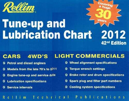 Rellim Tune-Up & Lubrication Chart 2012 - Front Cover