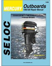 Mercury 40 - 115 HP (3 - 4 Cylinder 2-Stroke) Outboards 1965 - 1989