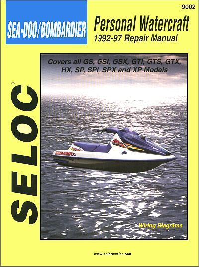 Bombardier Sea Doo Personal Watercraft 1992 - 1997 Repair Manual - Front Cover