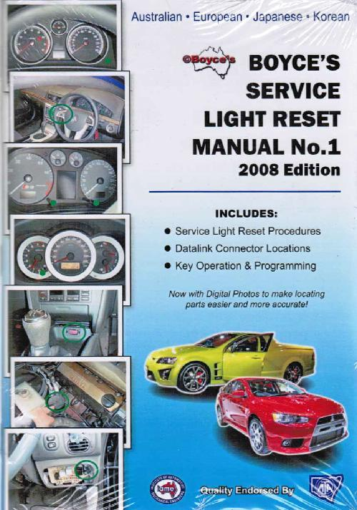 Boyce's Service Light Reset Manual 1st Older 2008 Edition