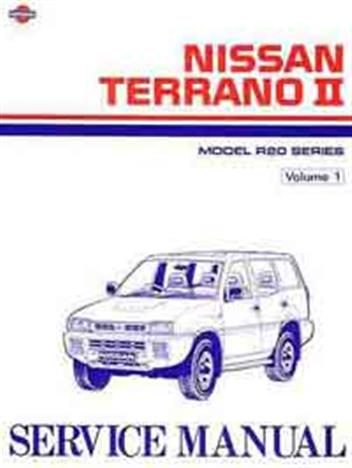 nissan terrano ii r20 series full service repair manual 1993 2006
