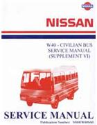Nissan Model W40 Series (Civilian) Service Manual Supplement 6 (1995) - Front Cover