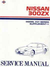 Nissan 300ZX (Z31) 1987 Service Manual Supplement-II - Front Cover