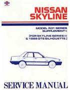 Nissan Skyline R31 1988 Series 3 Service Supplement - Front Cover