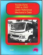 Toyota Dyna : Quick Reference Mechanics Data 1986 To 2002