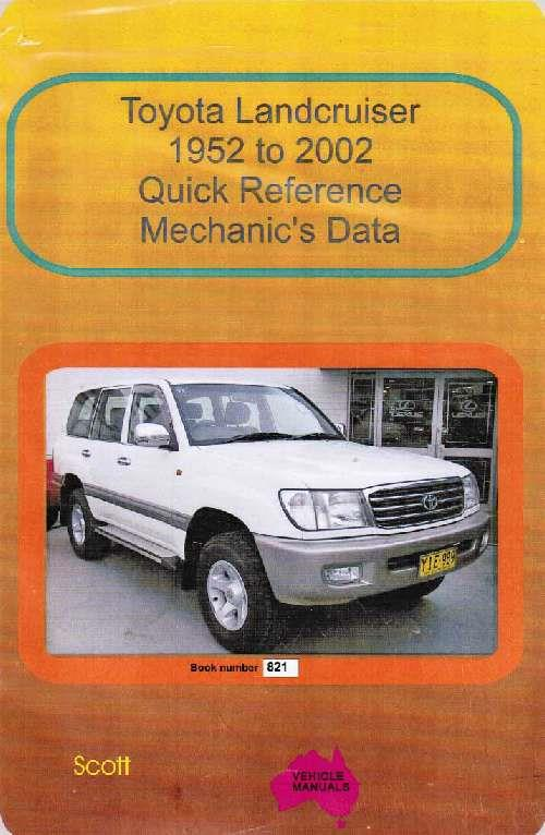 Toyota Landcruiser 1952 - 2002 : Quick Reference Mechanics Data