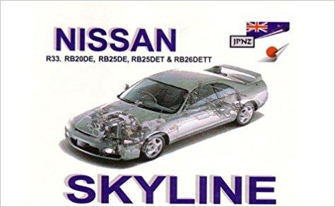 Nissan Skyline R33 1993 - 1997 Owners Handbook - Front Cover