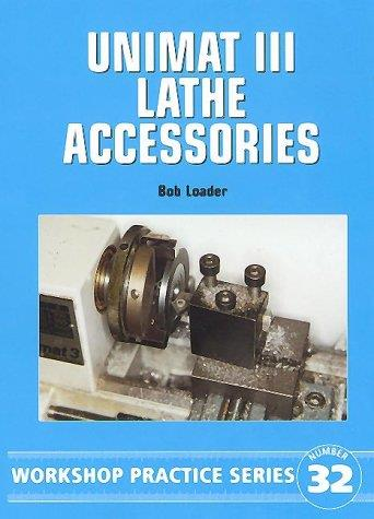 Unimat III Lathe Accessories - Front Cover