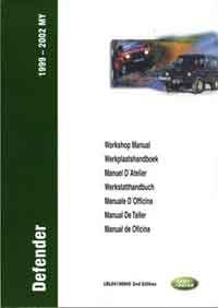 Land Rover Defender TD5 1999 - 2002 Workshop Manual - Front Cover