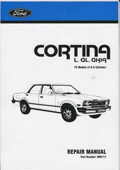 Ford Cortina TE 1977 - 1980 Factory Repair Manual - Front Cover