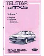 Ford Telstar and TX5 (AX) 1993 Factory Repair Manual Set -