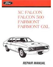 Ford Falcon XC Including GT, Fairmont, Fairmont GXL 1976-1979 Factory Manual