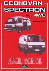 Ford Econovan/Spectron 1984-1987 Factory Repair Manual - Front Cover