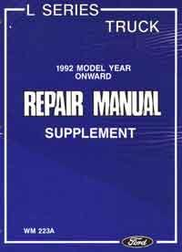 Ford Truck L Series Update Factory Supplement Manual - Front Cover