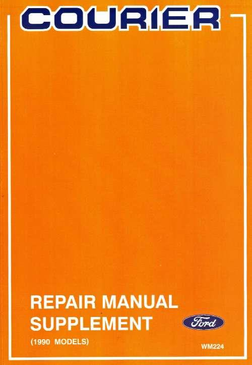 Ford Courier 1990-on Repair Manual Supplement - Front Cover