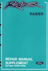 Ford Raider Wagon 1991 Factory Repair Supplement Manual - Front Cover