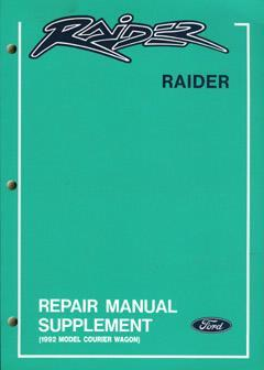 Ford Raider 1992 on Upgrades Factory Manual Supplement - Front Cover