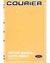 Ford Courier 1991 4x2 Factory Repair Manual Supplement