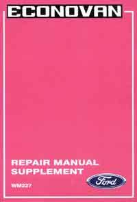 Ford Econovan 1988-on Factory Repair Manual Supplement - Front Cover