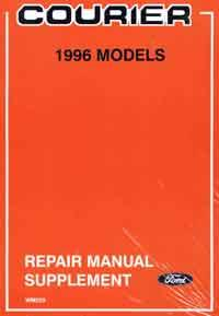 Ford Courier 1996 2.5-litre WD Diesel Factory Repair Manual Supplement - Front Cover