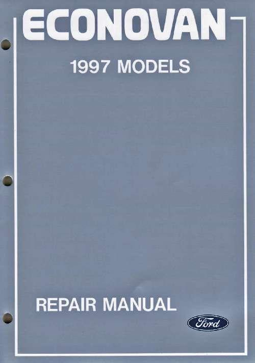 Ford Econovan (JG) 1997 Factory Repair Manual : 3 Volume Set - Front Cover
