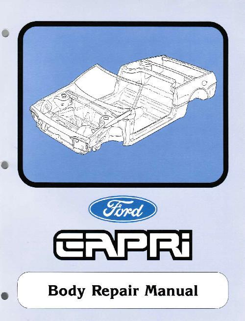 Ford Capri SA30 Body Repair Manual Supplement