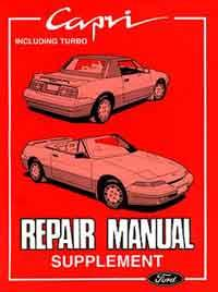 Ford Capri SV30 Series 2 Repair Manual Supplement