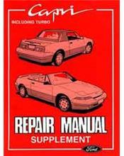 Ford Capri SV30 Series 2 Repair Manual Supplement
