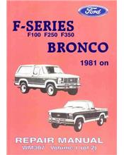 Ford F100 F250 F350 & Bronco 1981-1986 Factory Repair Manual
