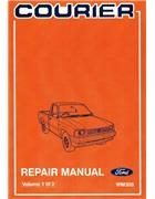 Ford Courier 1985 - 1986 Factory Repair Manual - Front Cover