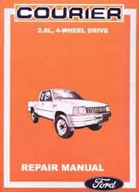 Ford Courier 4x4 1987 - on Repair Manual - Front Cover
