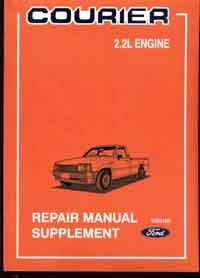 Ford Courier PD 2.2-litre 1987 - 1988 Factory Repair Manual Supplement -
