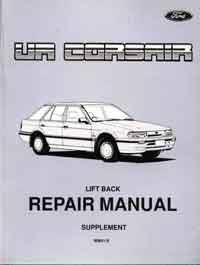 Ford Corsair UA Liftback Repair Manual Supplement