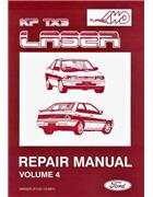 Ford Laser KF TX3 Turbo & 4WD Factory Repair Manual Supplement - Front Cover