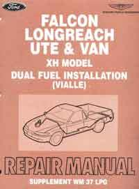 Ford Falcon Ute XH LPG Repair Manual Supplement - Front Cover