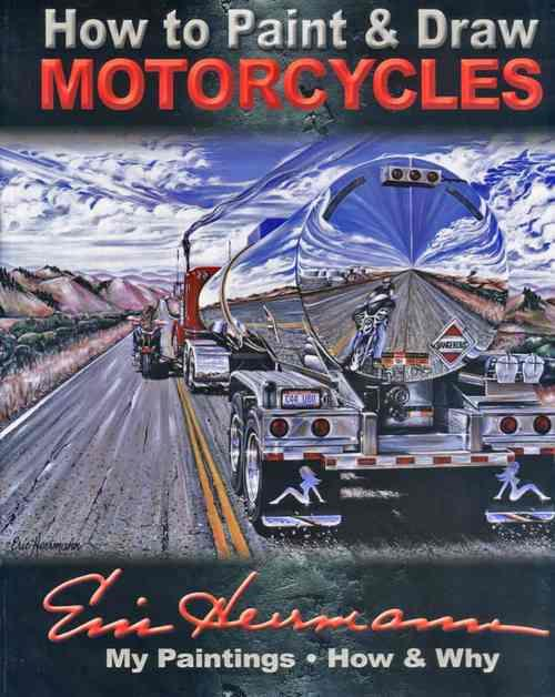 How To Paint And Draw Motorcycles - Front Cover
