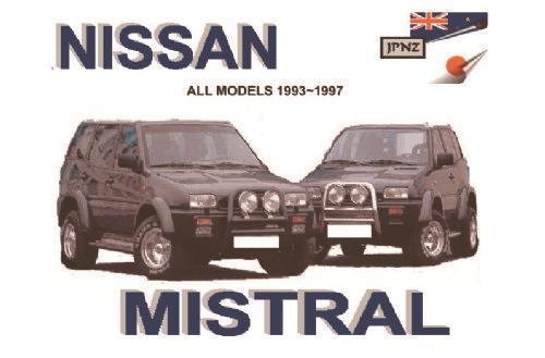 nissan mistral 1993 1997 owners manual engine model ka24s td27ti rh computeroutpost com au