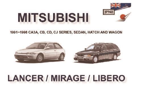 mitsubishi lancer mirage libero 1991 1998 owners. Black Bedroom Furniture Sets. Home Design Ideas
