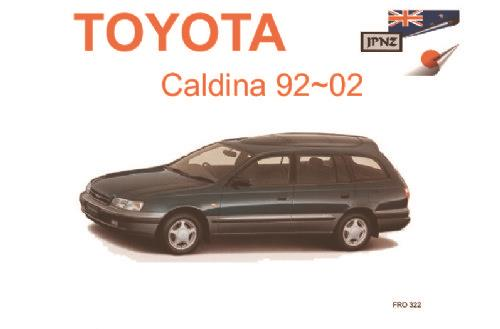 toyota caldina gt t specifications rh computeroutpost com au