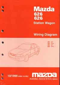 mazda 626 gf gw 10/1999 factory wiring diagram - front cover