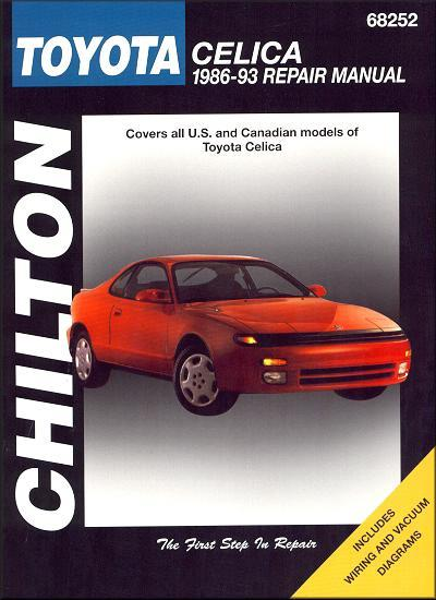 Toyota Celica 1986 1993 Chilton Owners Service Amp Repair