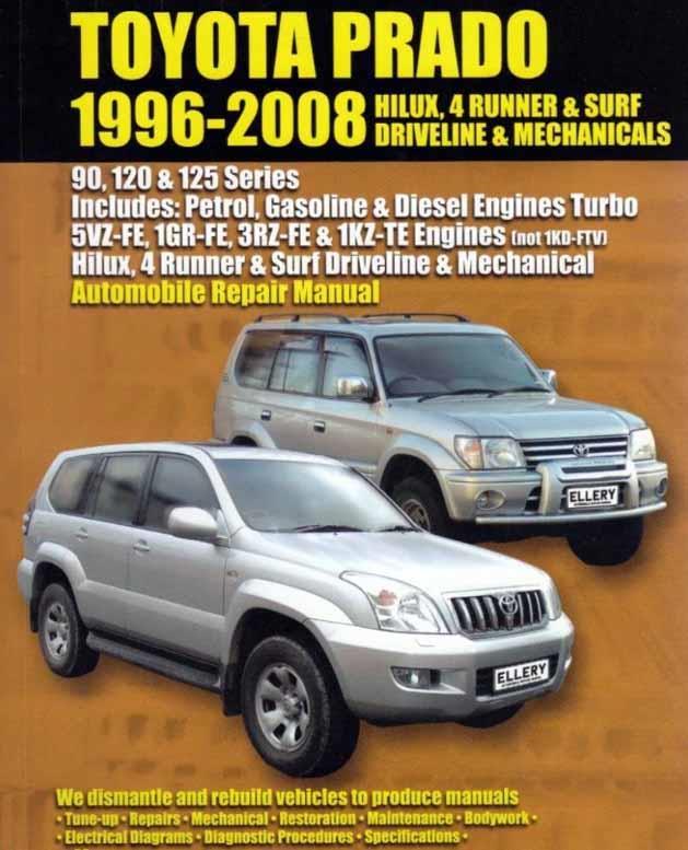 Toyota Prado Petrol Amp Diesel 1996 2008 Automobile
