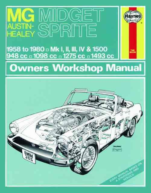 mg midget austin healey sprite 1958 1980 haynes owners. Black Bedroom Furniture Sets. Home Design Ideas