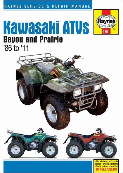 Kawasaki Bayou 220  250  300  U0026 Prairie 300 Atvs 1986