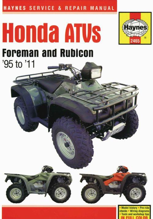 Honda Foreman 400 Amp 450 Amp 500 Atvs 1995 2011 Haynes