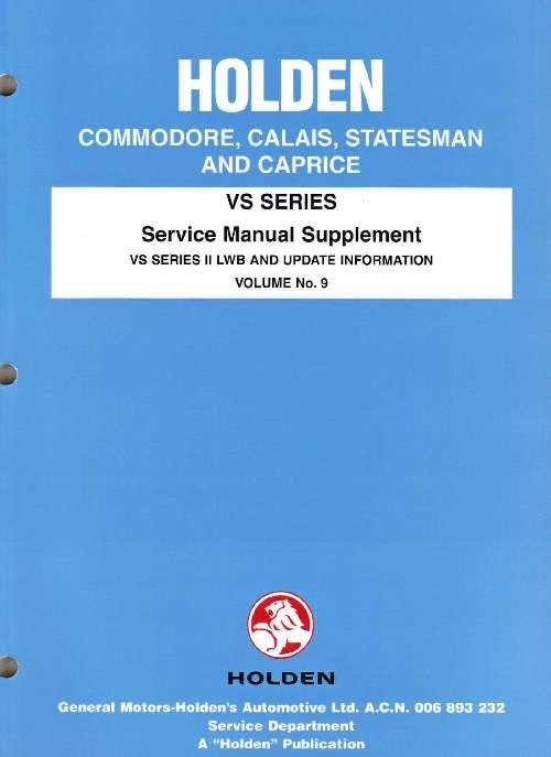 holden commodore vs series 2 factory workshop manual supplement rh computeroutpost com au Holden Commodore VN Holden Commodore VN