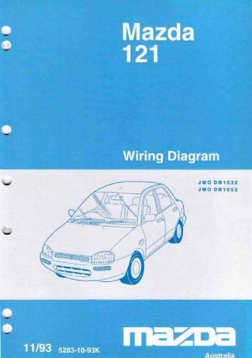 mazda 121 (db) wiring diagrams 1993 factory manual ... mazda 121 wiring diagram pdf mazda 121 wiring diagram free #4
