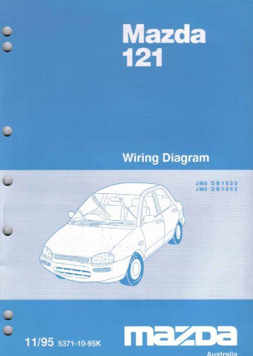 Mazda 121 Db 11  1995 Factory Wiring Diagram Manual