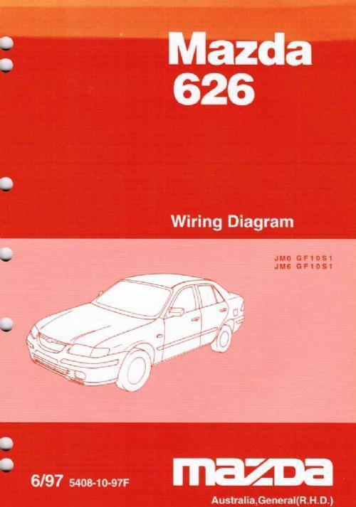 Mazda 626 Gf 06  1997 Factory Wiring Diagram Manual