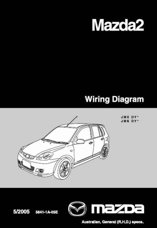 Mazda2 05  2005 Factory Wiring Diagram Workshop Manual Supplement Mazda Australia